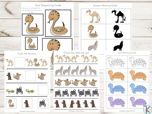 FREE Desert Animals Printables