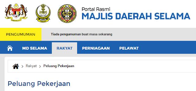 Rasmi - Jawatan Kosong (MDS) Majlis Daerah Selama 2019