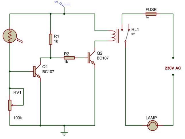 wiring diagram photocell light switch craftsman lt1000 mower deck المشاريع الالكترونية : دائرة حساس إضاءة