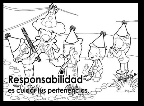 Dibujo Para Colorear Sobre Los Valores Responsabilidad