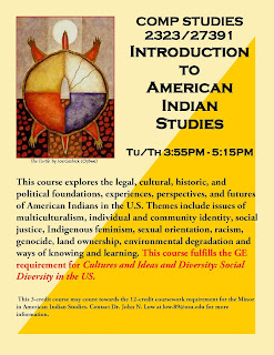 Introduction to American Indian Studies Flyer. Spring 2016.