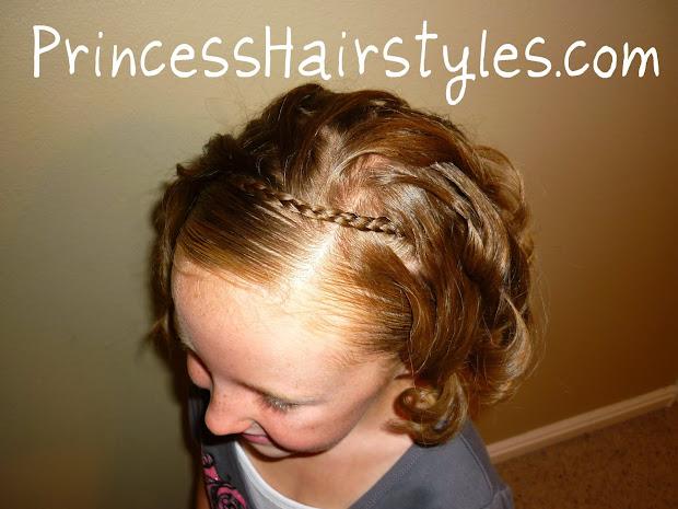 braided headband - short hair