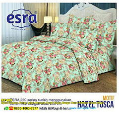 Sprei Custom Katun Lokal Dewasa Hazel Tosca Bunga Floral Pattern Tosca Hijau