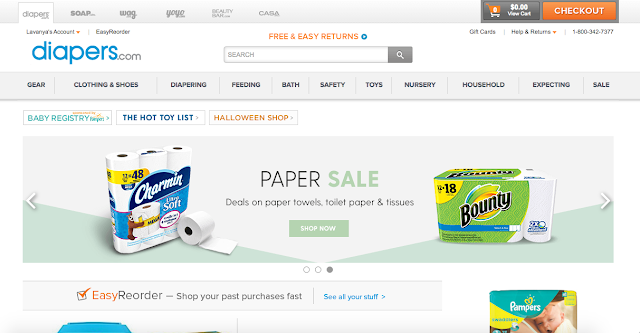 Online Shopping Experience With Diapers.com