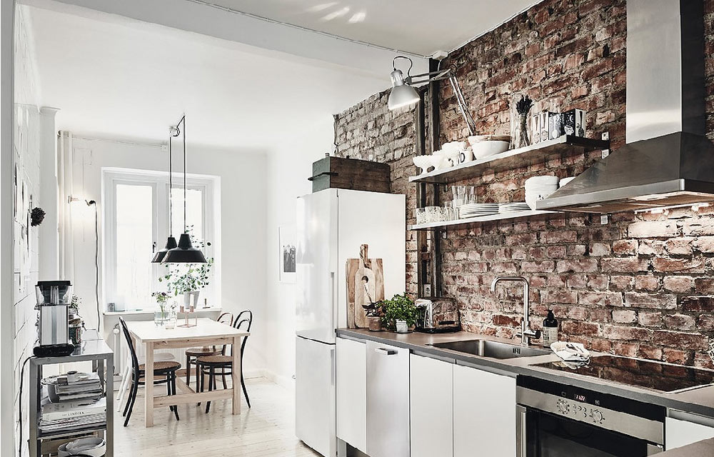 Per la cucina pareti di mattoni a vista  Blog di