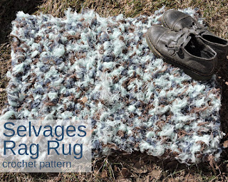 Pendleton Selvages Rag Rug crochet pattern