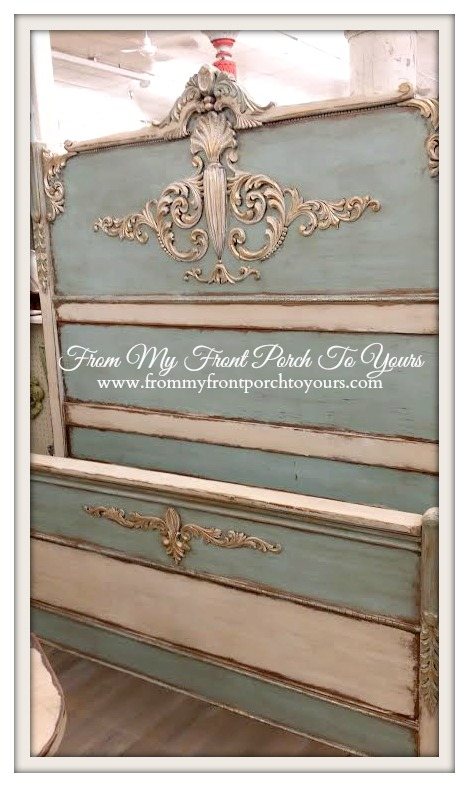 From My Front Porch To Yours- Queen of Hearts Alpharetta- Antique Painted Bed