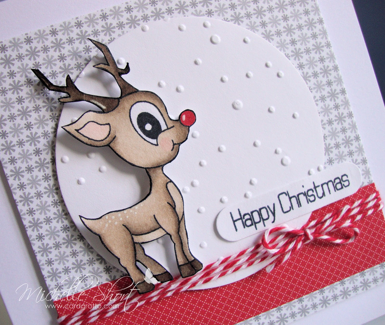 The Card Grotto: The Cutest Reindeer In Town