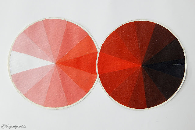 Value Scale Crimson Red Betty Edwards Colour Theory Colours