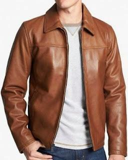 Gambar Model Jaket Kulit Imitasi Pria Modern