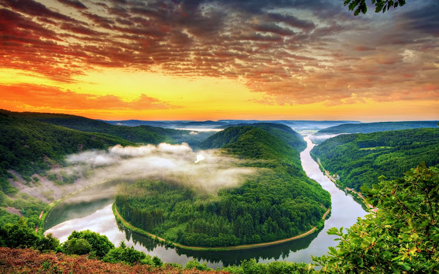 amazing-beatiful-sunset-sunrise-river-mountain-relaxing-wallpaper