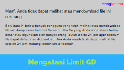 Google Drive merupakan tempat penyimpanan yang dimilik oleh google Tutorial Mengatasi Download Limit Google Drive Terbaru