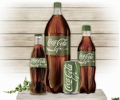 coca cola life con estevia