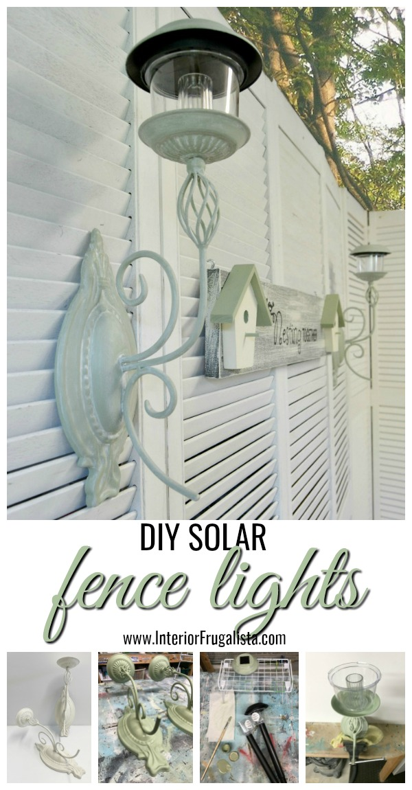 Easy DIY Solar Fence Lights