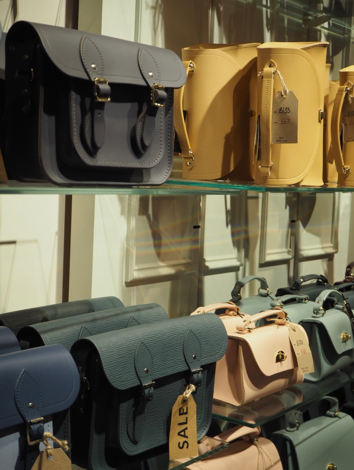 A shot of Cambridge Satchels in-store pre editing