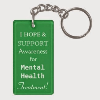 Mental Health Awareness Green Ribbon Hope & Support Treatment Custom Pendant Keychains