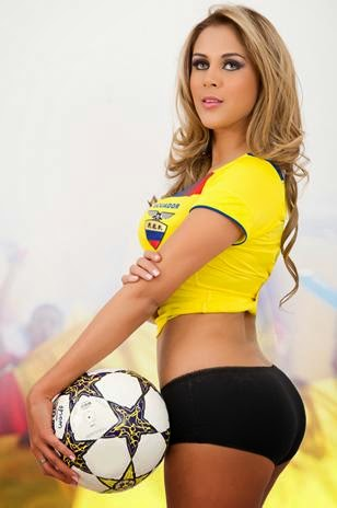 World Cup Brazil 2014: sexy hot girls football fan, beautiful woman supporter of the world. Pretty amateur girls, pics and photos   Ecuador ecuatoriana