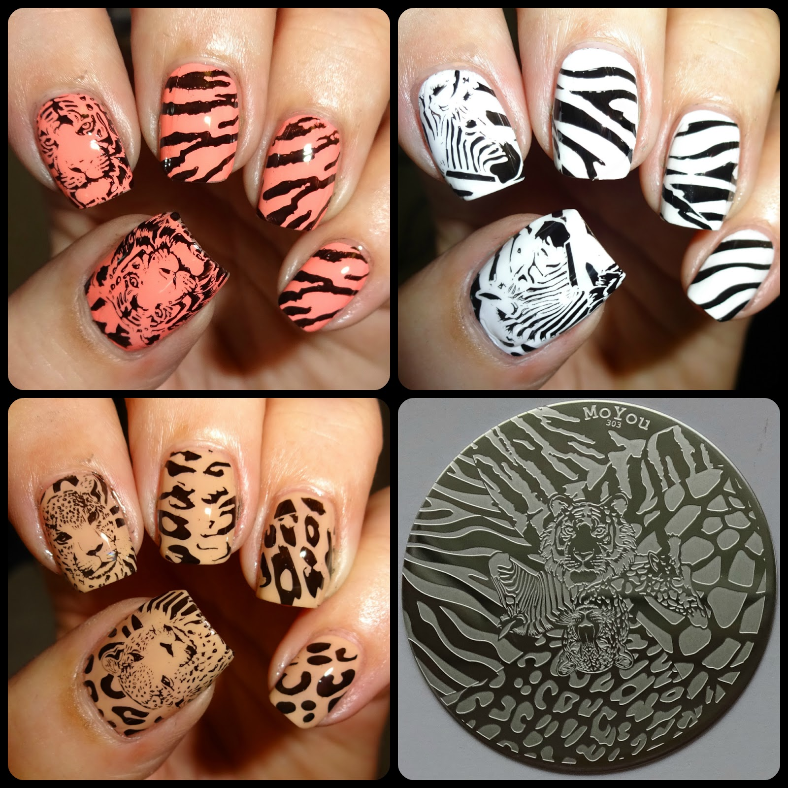Wendy\'s Delights: MoYou Nails Stamping Plate 303 - Safari