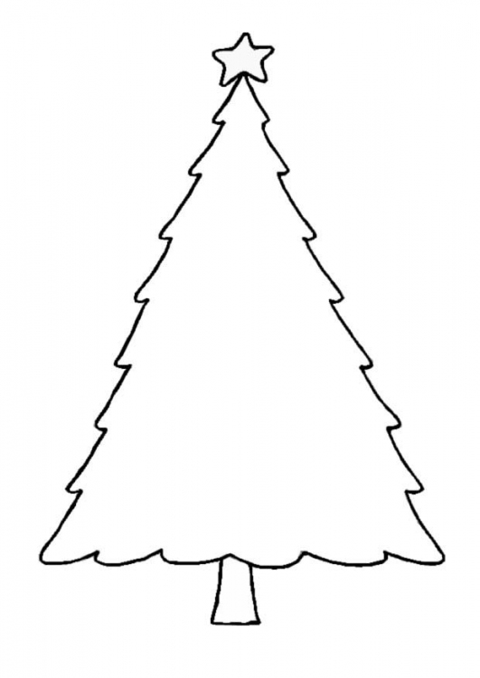 Christmas Trees and Bells Coloring Pages To Print ...
