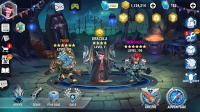 Download MOd Heroes Infinity: Gods Future Fight Apk Terbaru Akozo