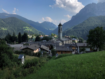 The village of Vilminore in Val di Scalve.