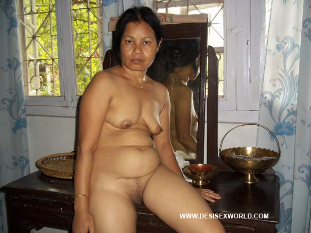 Hot And Sexy Assamese Aunty Totally Nude And Naked Showing -8774