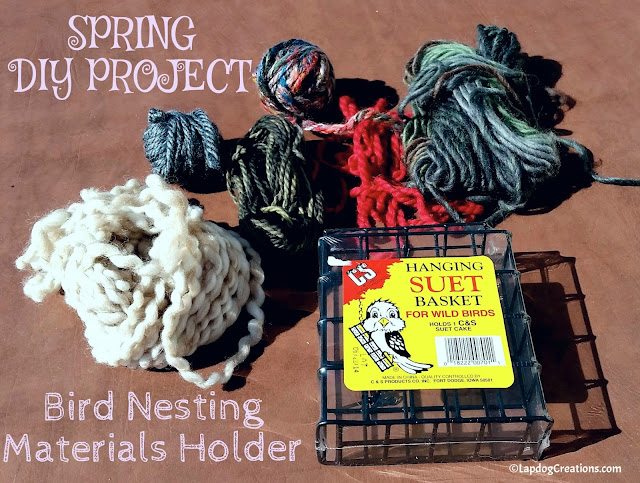 how to make a bird nesting materials holder DIY craft project
