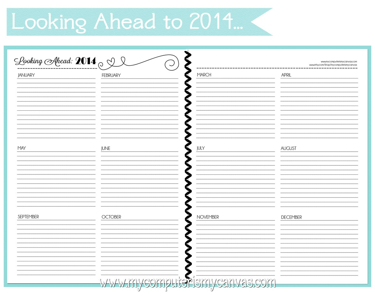 new   printable personal planner