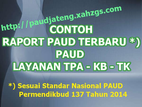 Contoh Format Raport Paud Terbaru By Paudjateng Paud Jateng