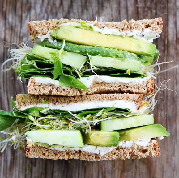 Cucumber and Avocado Sandwich #cucumber #vegetarian