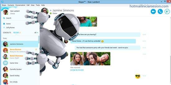 robots que  Skype ofrece para facilitar tareas