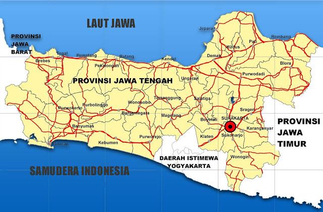 Gambar Peta Provinsi Jawa Tengah Lengkap Daftar 35 Kabupaten Download