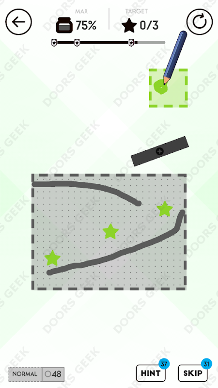 Draw Here 48 Solution, Walkthrough, Cheats for Android, iPhone, iPad and iPod