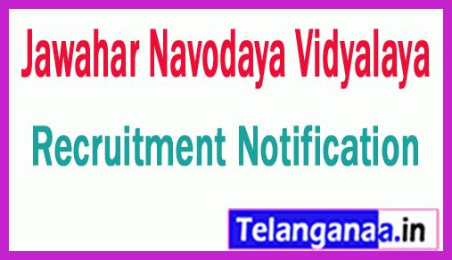Jawahar Navodaya Vidyalaya JNV Recruitment Notification