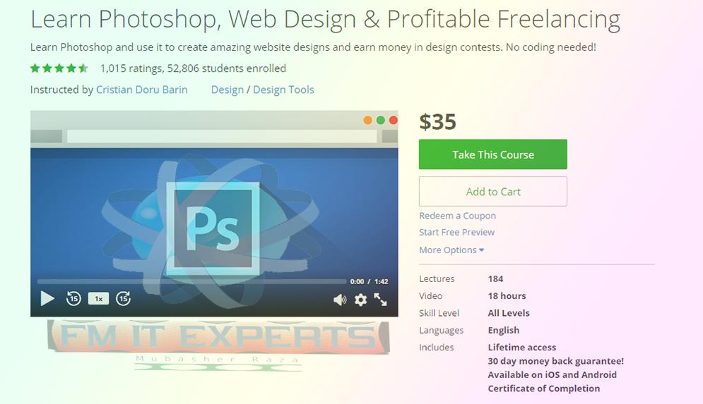 Youtube Help In Urdu Hindi Get Learn Photoshop Web Design Profitable Freelancing Udemy Course