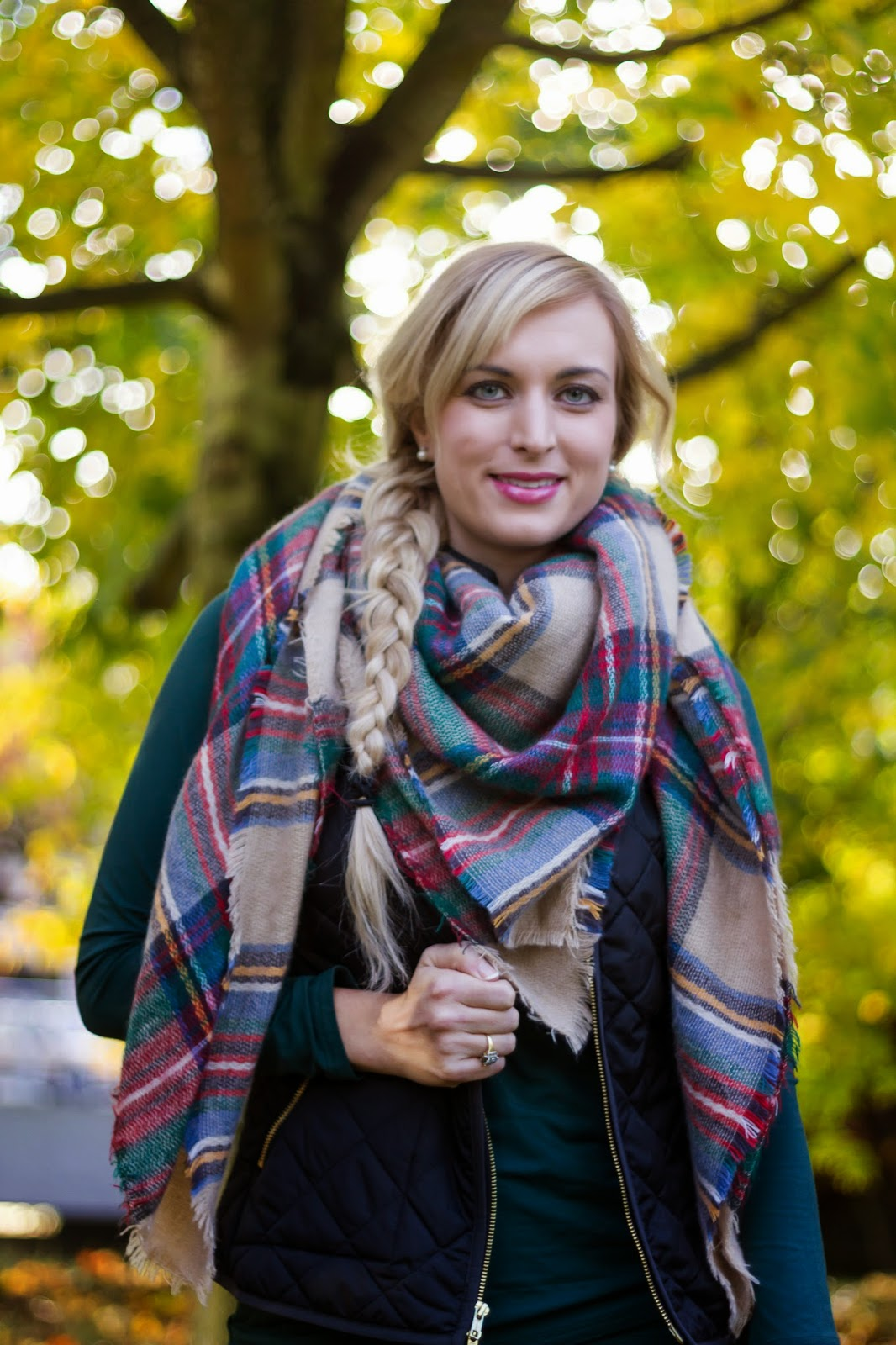 plaid-blanket-scarf-outfit-idea