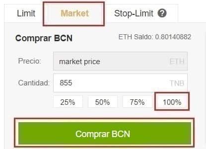 Comprar y Guardar en Monedero Bytecoin (BCN)