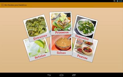 App Mis recetas paradiabéticos
