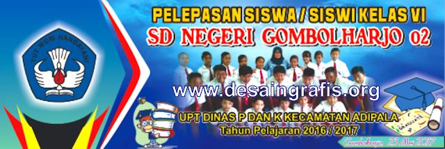 Desain banner perpisahan sekolah cdr terbaru