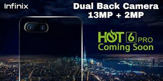 infinix hot 6 pro dual camera