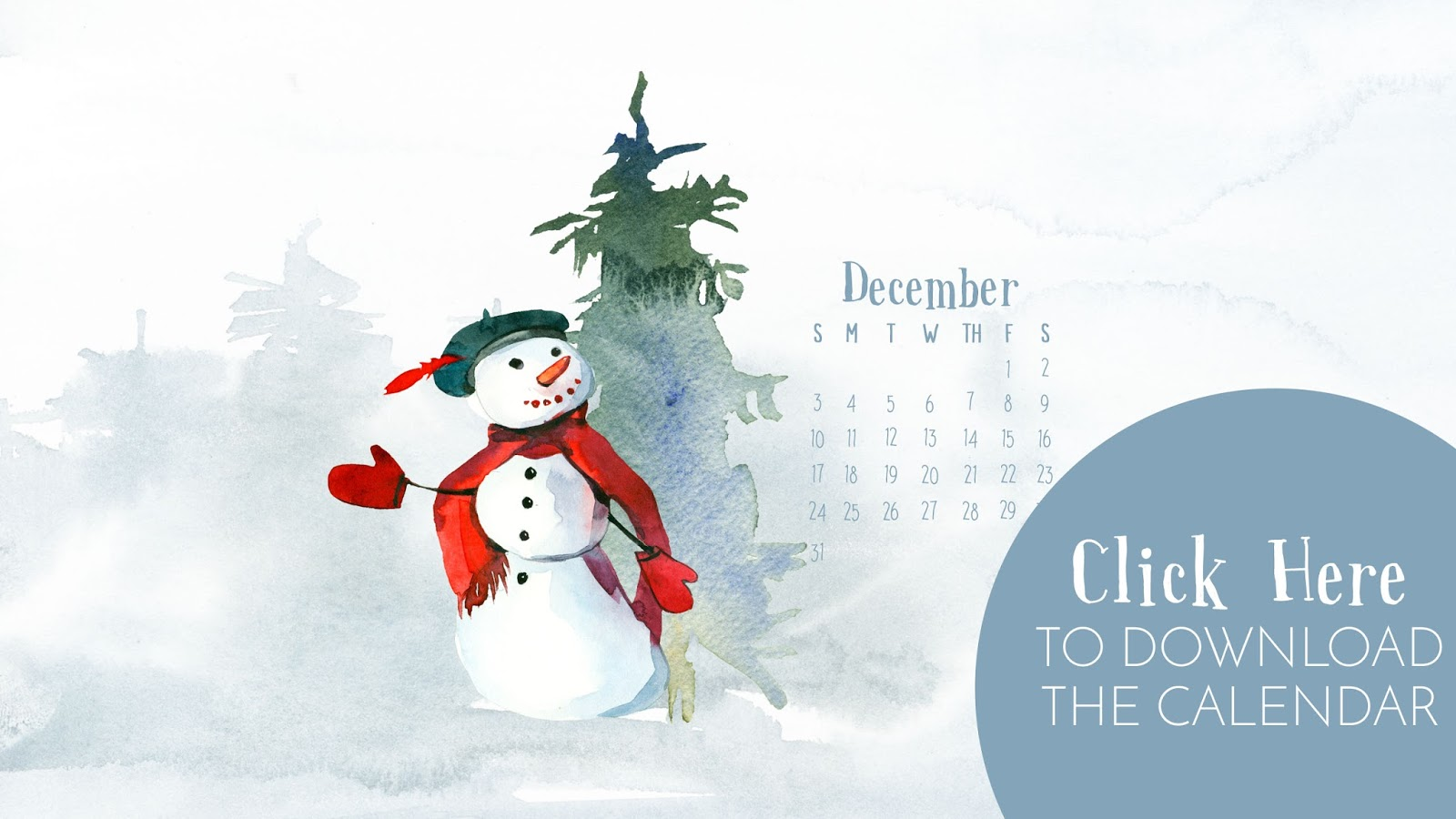 • December 2017 • Computer Desktop Calendar Background and matching iPhone Backgrounds