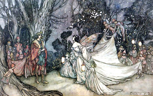 Arthur Rackham: The Meeting of Oberon and Titania