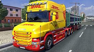 DHL skin mod for Scania T Longline