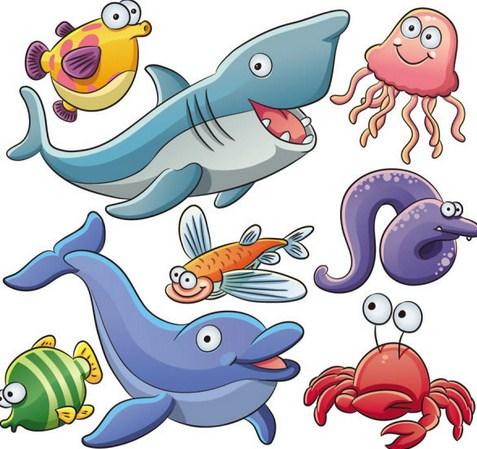 Contoh Mewarnai Gambar Ikan Di Laut