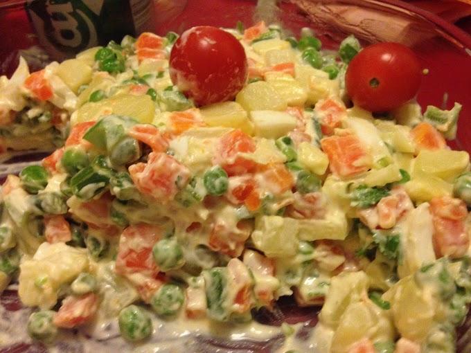 Recetas brasileñas: Ensalada de mayonesa