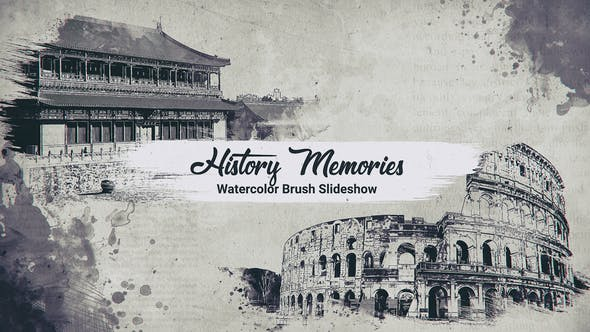 History Memories // Watercolor Brush Slideshow   After Effects
