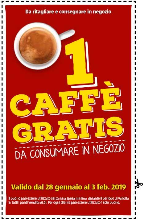 un caffè gratis da Aldi