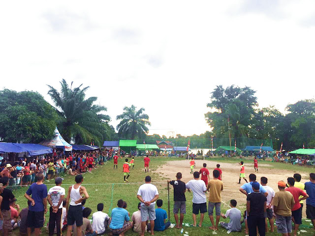 Open tournamen Sungai Ayak Cup Bola Mini memeriahkan HUT RI