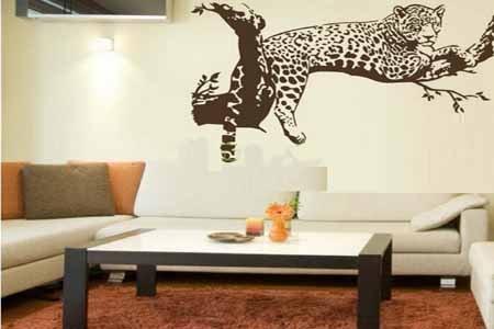 Stiker Dinding Ruang Tamu Motif Hewan Dan Pohon