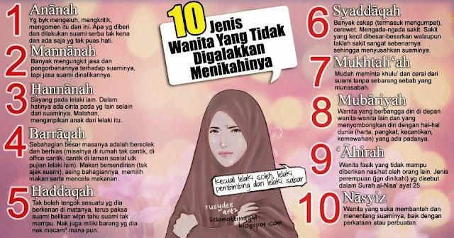 WW | 10 Jenis Wanita yang Tidak Digalakkan Menikahinya